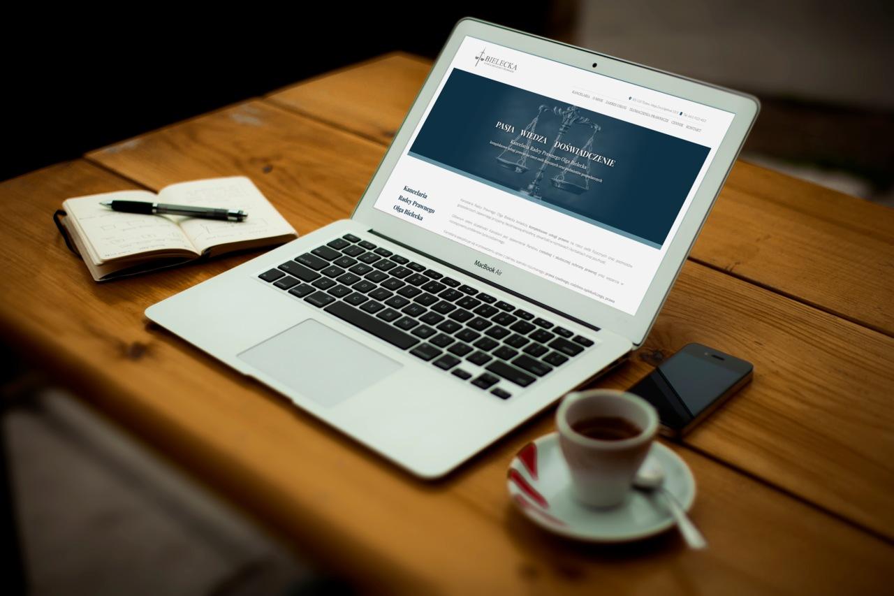 Strona internetowa dla Kancelarii Radcy Prawnego Olgi Bieleckiej