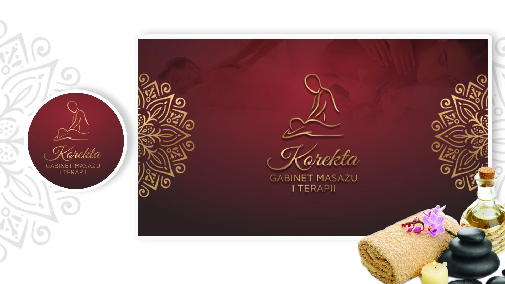 Pakiet grafik na Facebooka dla Korekta Gabinet Masażu i Terapii
