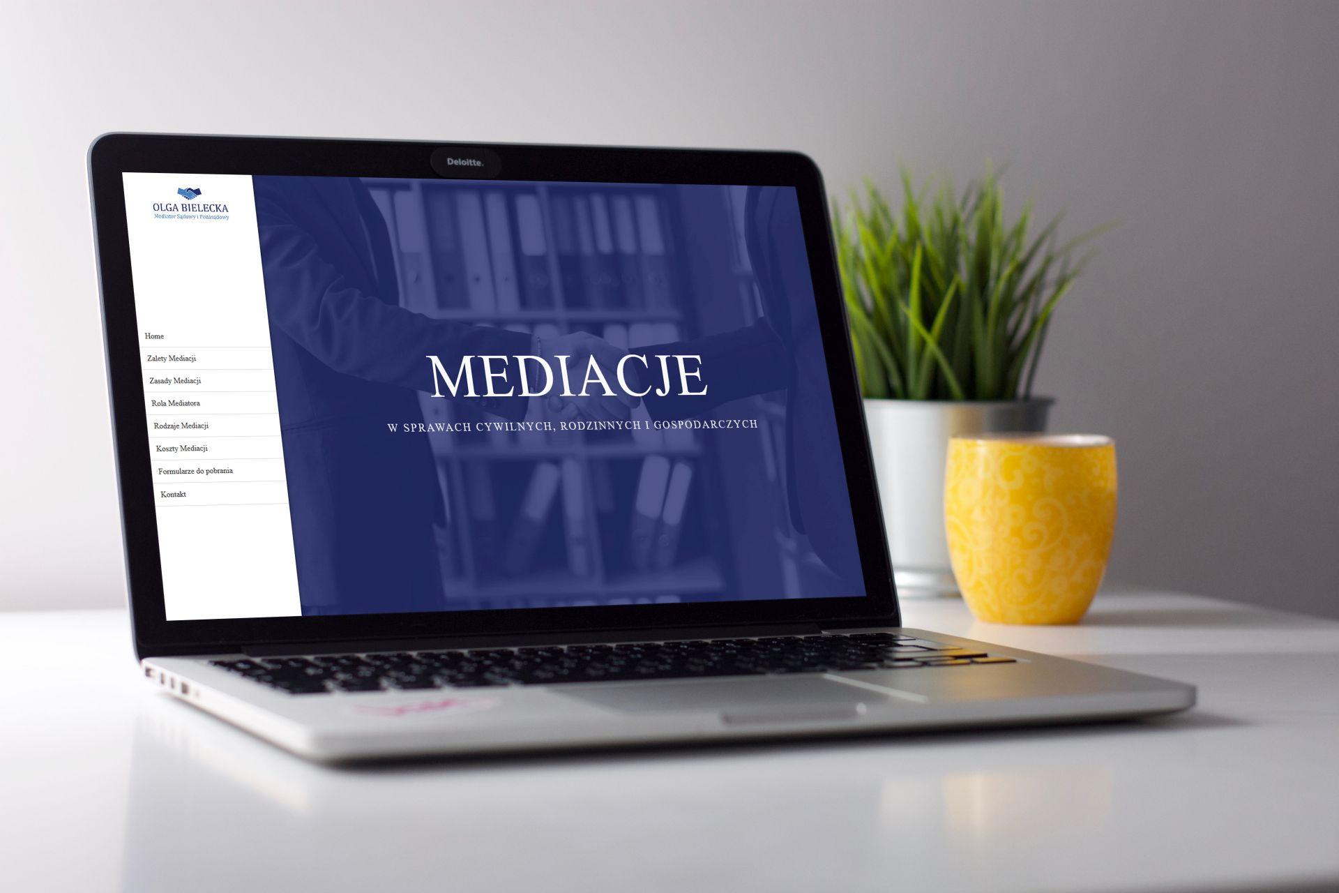 Wykonanie strony internetowej dla Mediatora Olgi Bieleckiej
