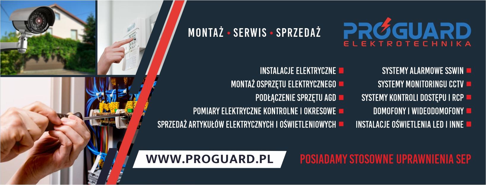 Wykonanie cover na facebook dla Proguard Elektrotechnika