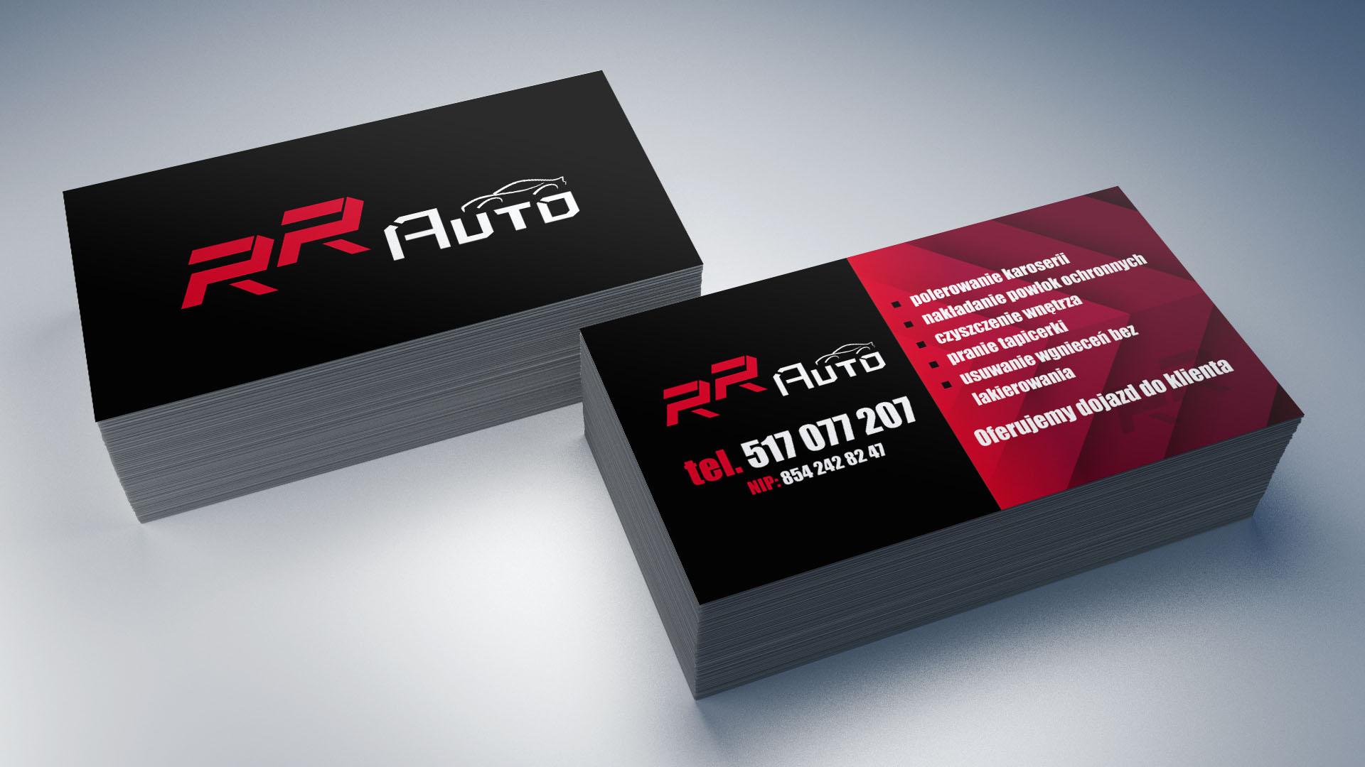 Projekt i wydruk wizytówek dla RR Auto