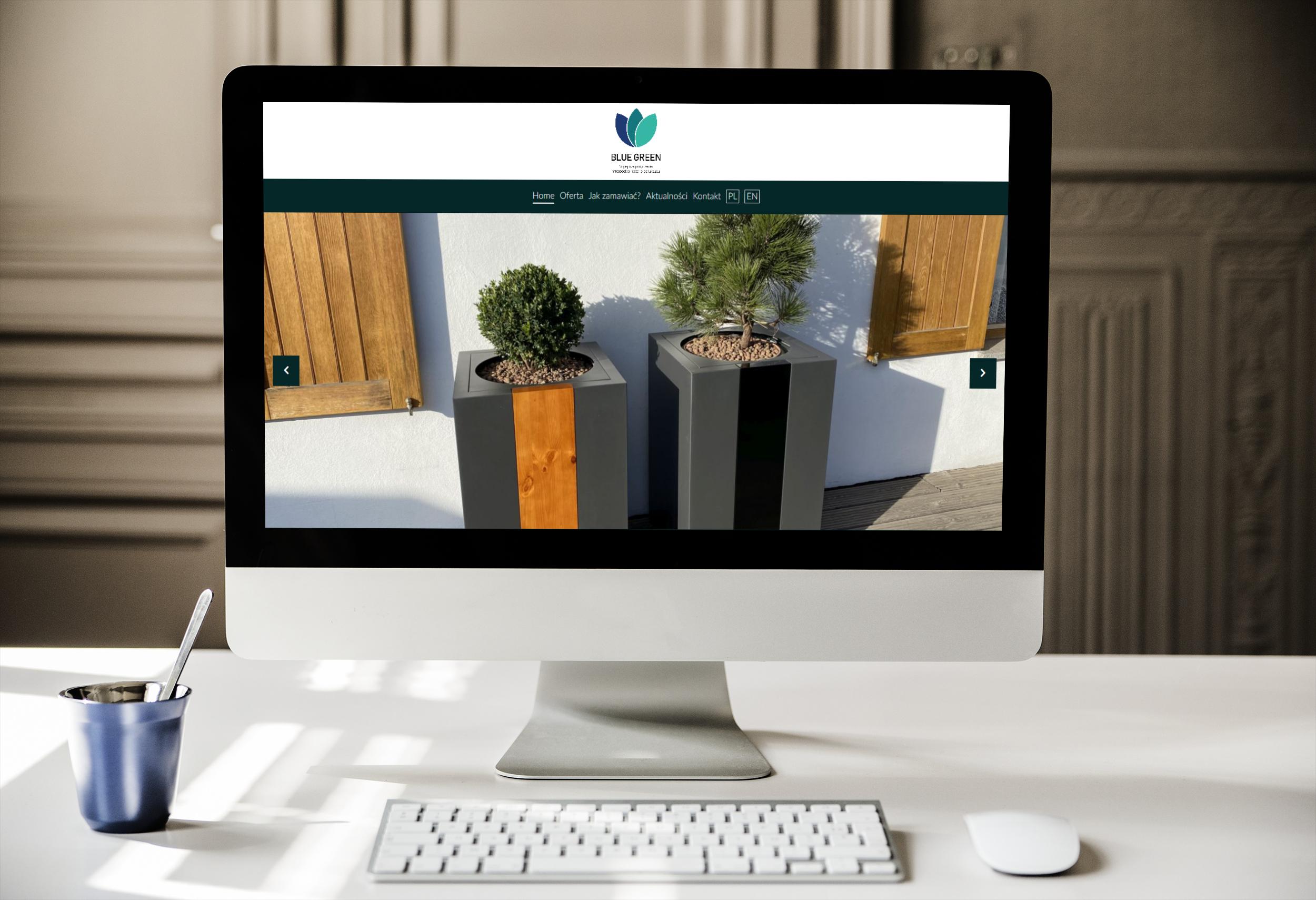 Strona internetowa dla Blue Green