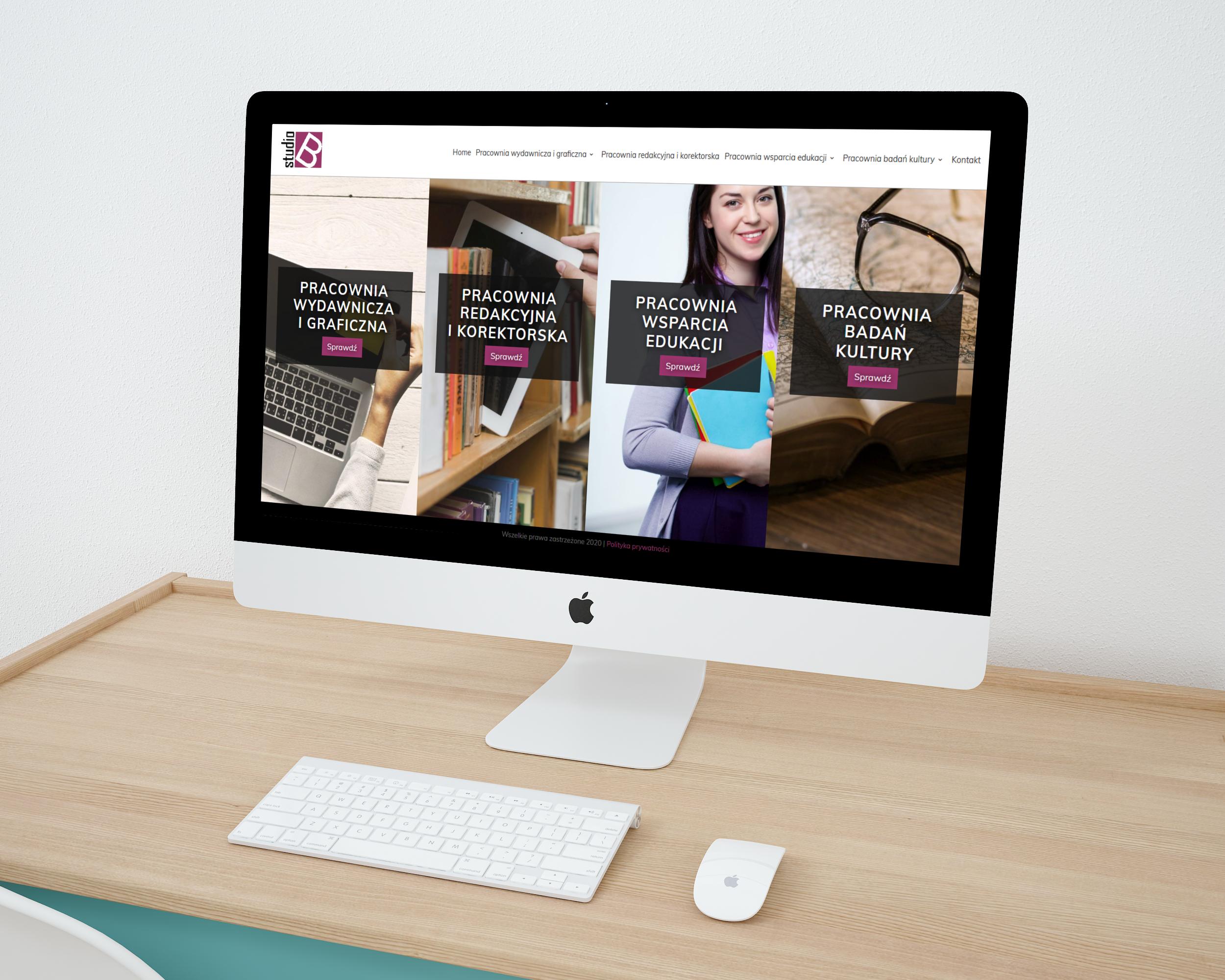 Strona internetowa dla Studio B