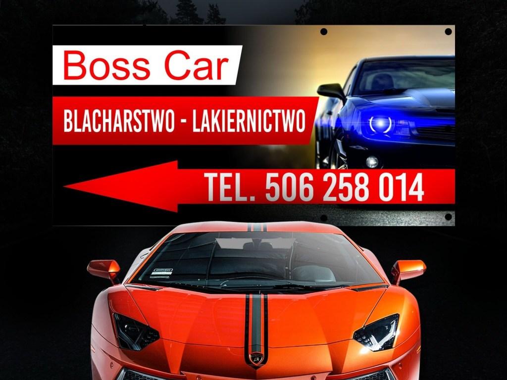 Baner dla firmy Boss Car