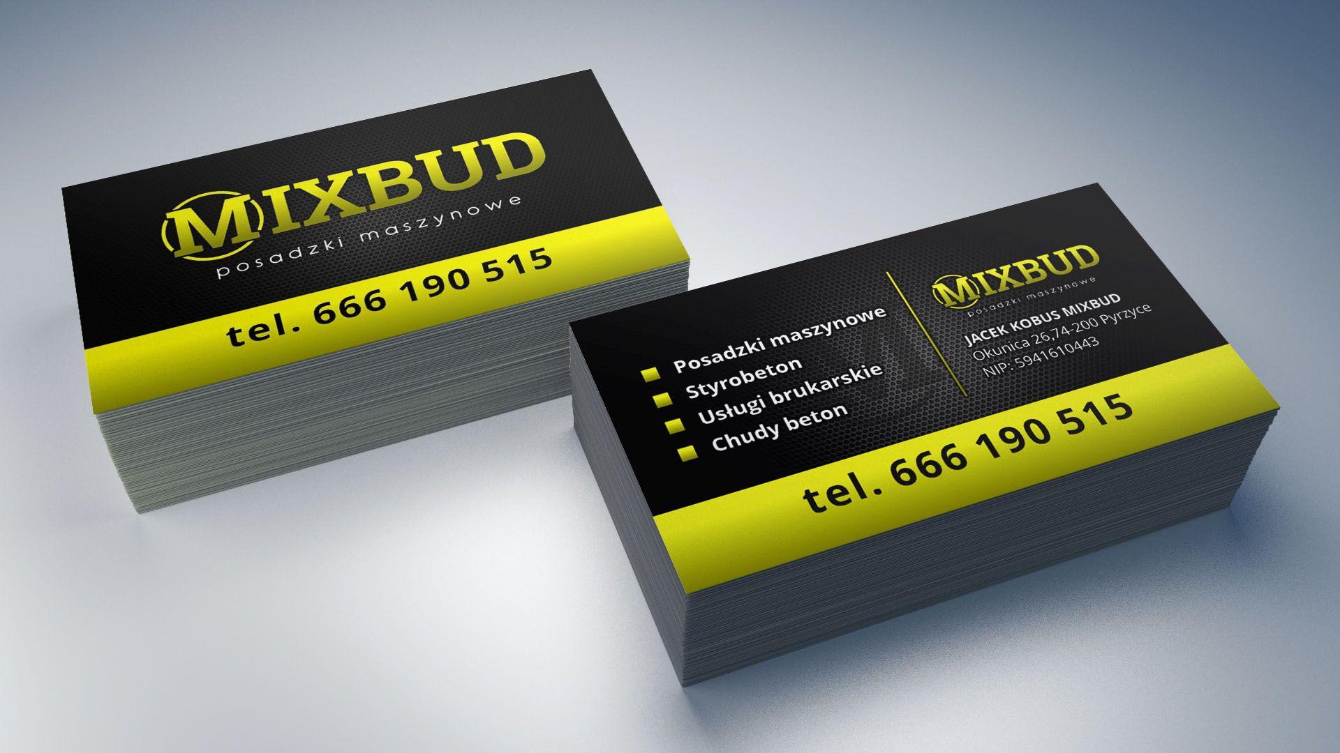 Wizyt贸wki dla firmy MixBud