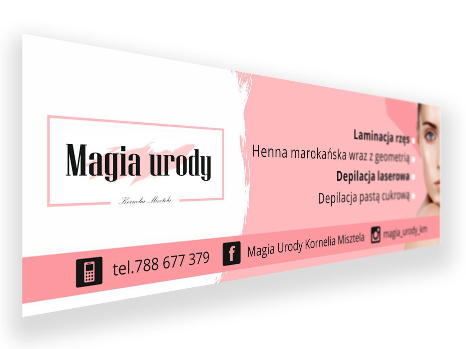 Wykonanie reklamowe dla Magia Urody Kornelia Misztela