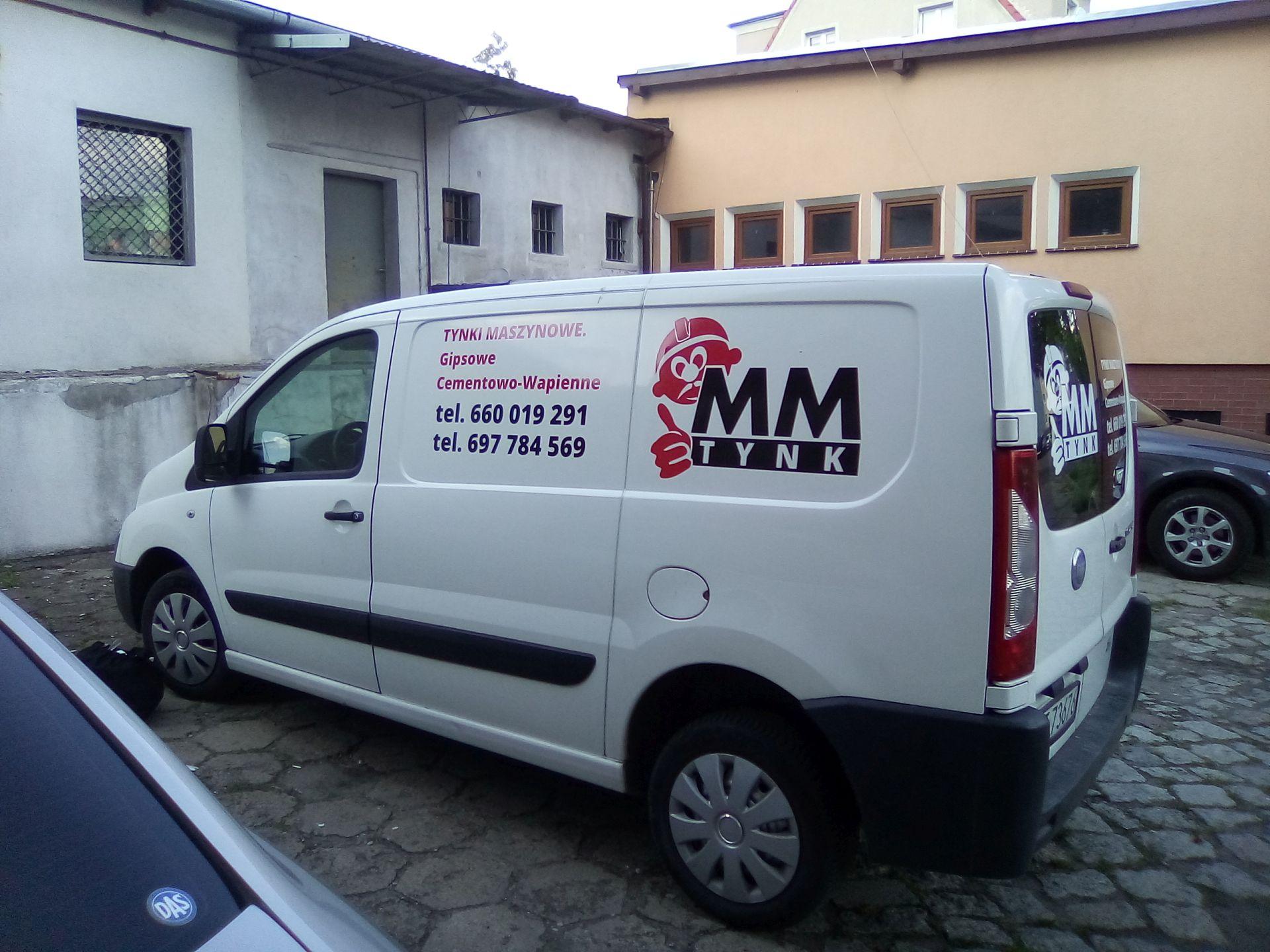 Oklejenie pojazdu dla firmy MM Tynk