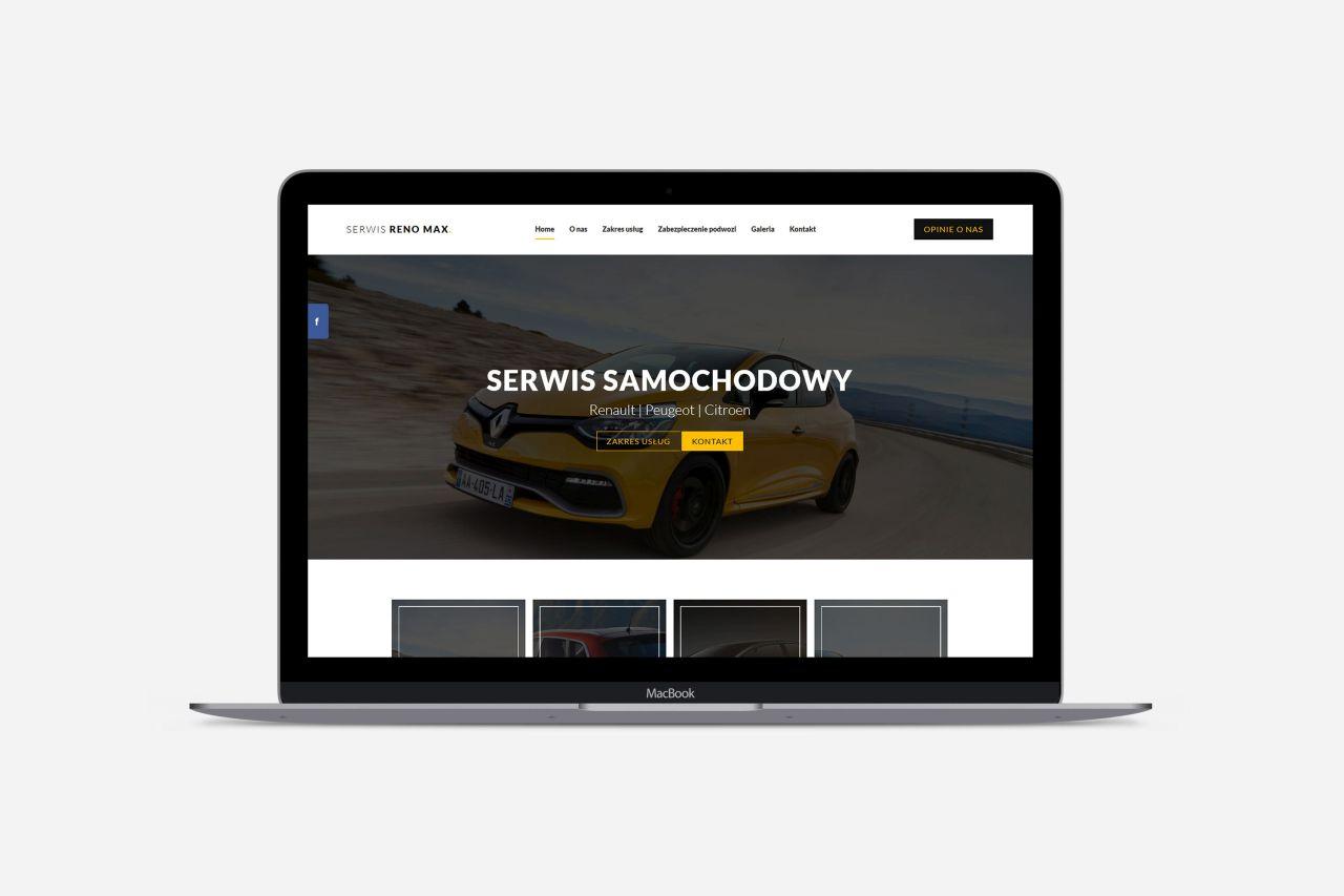 Strona internetowa dla serwis reno max